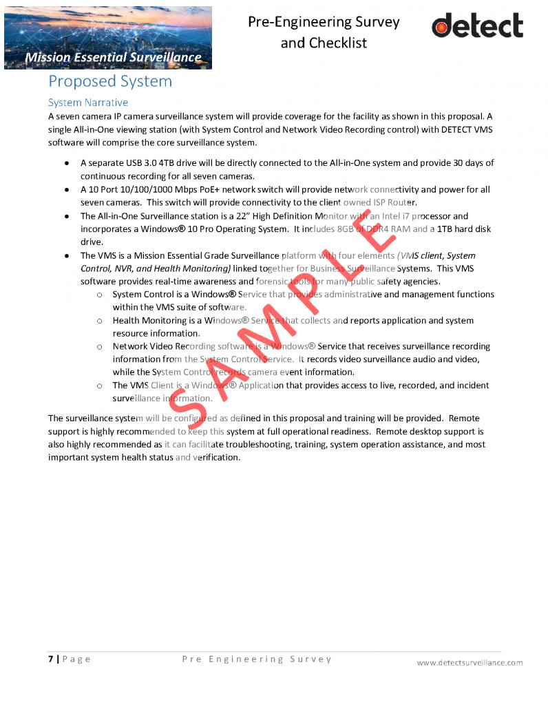 Pre Engineering Survey and Checklist SAMPLE_Page_07