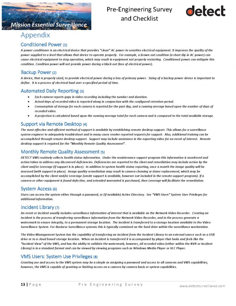 Pre Engineering Survey and Checklist SAMPLE_Page_13